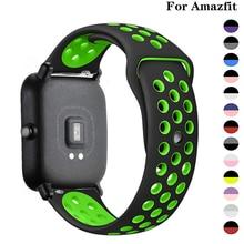 20mm/22mm banda de silicone para amazfit gts/2/2e/gts2 mini/gtr 42mm/47mm/gtr2/2e/stratos 2/3 pulseira de relógio esportivo pulseira amazfit bip cinta