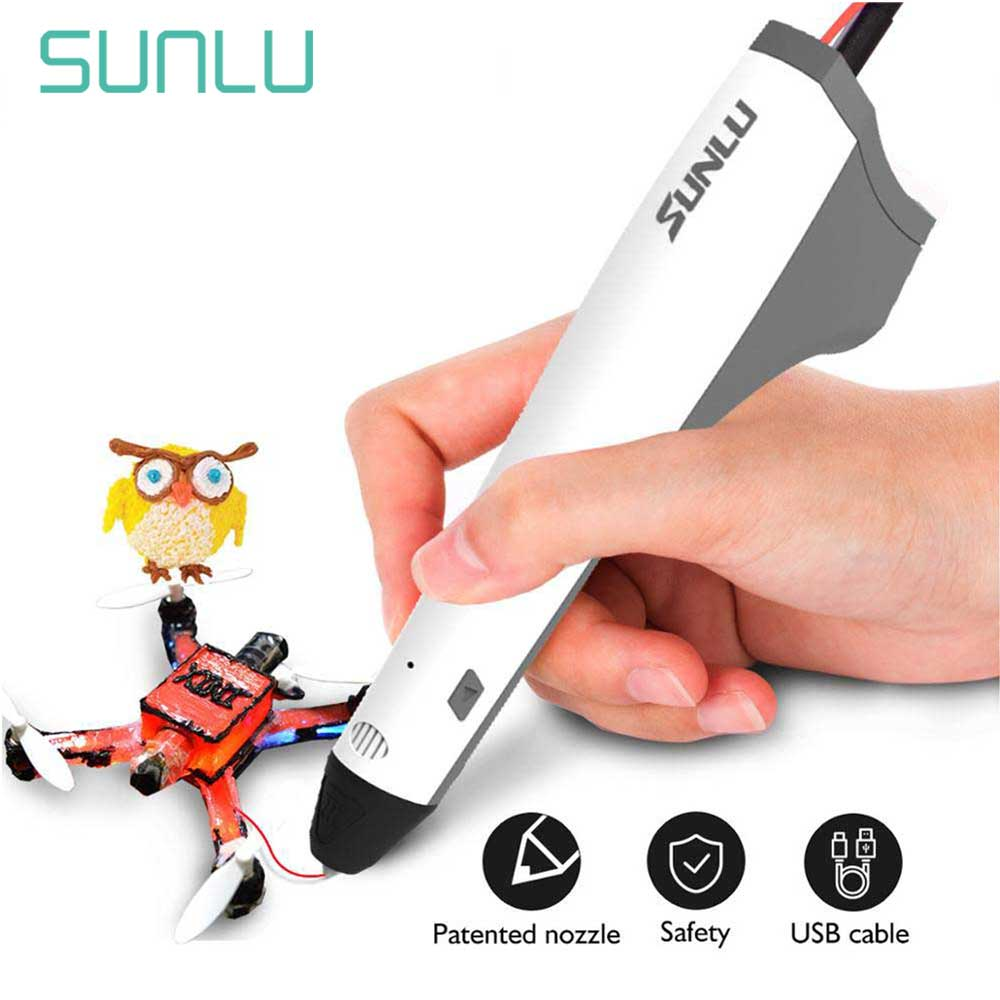 SUNLU Prince M1 Low Temperature 3D Printing Pen For Children Explore Intelligence Support PLA PCL Filament 1.75mm DIY Gift