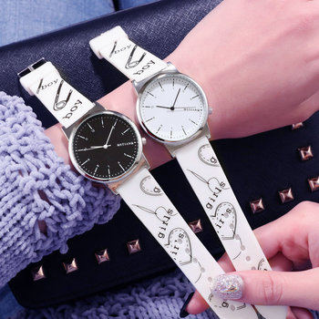Couple watches ins Harajuku style men and women silicone strap quartz watch casual fashion female student trend couple watch read watch women watch quartz female da vinci series r7003l