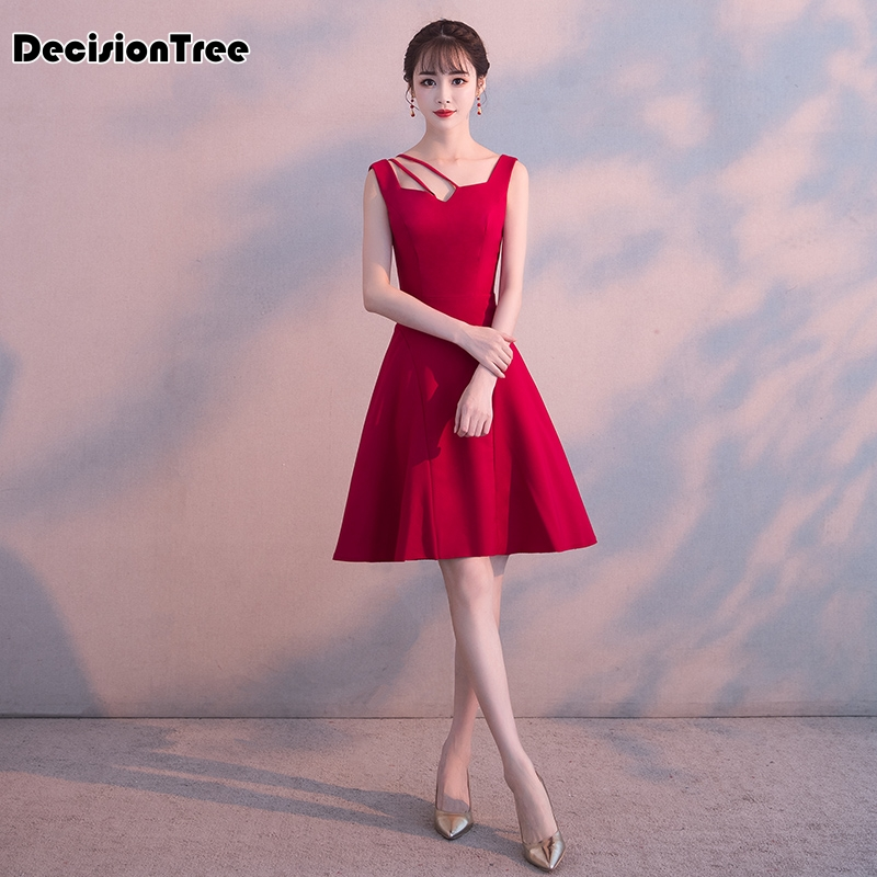 2020 chinese traditional dress red wedding cheongsams vintage sleeveless silk qipao evening dress gown chinese clothing qi pao