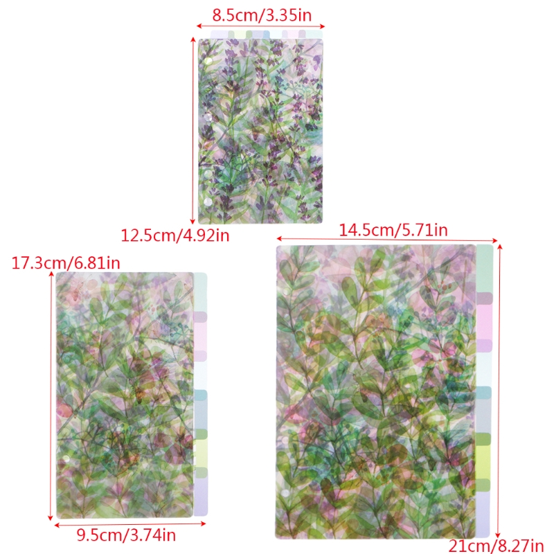A5 A6 A7 Catoon Clear Divider Index Pages Classified Sorter For 6-Holes Binder R91A