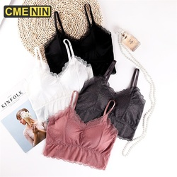 CMENIN Bras For Women Top Lace Sexy Bra Women Underwear Tops Push Up Lingerie Cotton Strapless Bras For Women Bralette B0188