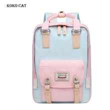Женский розовый Рюкзак Kawaii, симпатичная школьная сумка для младшей и старшей школы, дорожный мини рюкзак для подростков, Дамская книжная сумка, Холщовая Сумка
