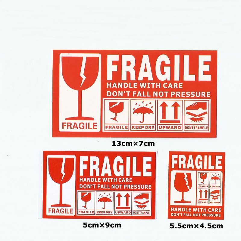 50pcs English FRAGILE Warning Label Sticker Shipping Express Label Stickers