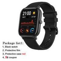 """GTS angielska wersja Amazfit GTS Smart Watch 1.65 """"wyświetlacz retina 5ATM wodoodporny Smartwatch 14 dni bateria GPS sterowanie muzyką"""