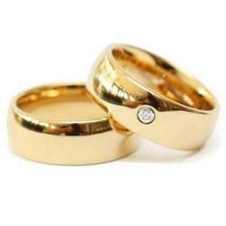 6mm de largura anel de casamento para mulheres e homens cor do ouro anel de casal de aço inoxidável aaa + zircônia cúbica aliança anel