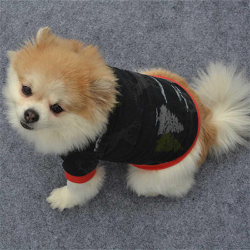 Warm Fleece สัตว์เลี้ยงเสื้อผ้าสุนัขน่ารักพิมพ์สัตว์เลี้ยงสุนัขเสื้อแจ็คเก็ตภาษาฝรั่งเศส Bulldog Pullover Camouflage เสื้อผ้าสุนัข