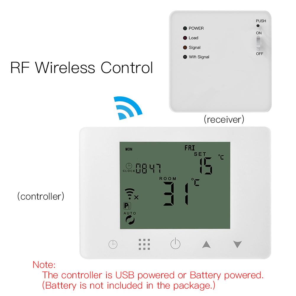 WiFi Smart Thermostat Wall-Hung Electric Underfloor Heating Temperature Controller Work with Alexa Google Home