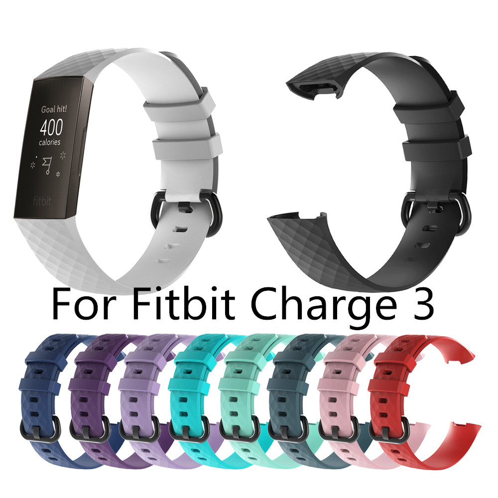 Smart Watch Strap For Fitbit Charge 3 Outdoor Sport Soft TPU Replacement Wristband Strap For Smart Bracelet Strap Accessory