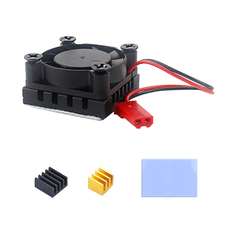Raspberry Pi 4 Model B Cooler Kit CPU RAM Cooler Cooling Fan + Aluminum Heatsink For Raspberry Pi 4 4B