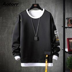 Outono estilo japão moletom dos homens hip hop alta streetwear moda masculina casual moletom com capuz marca roupas plus size 4xl