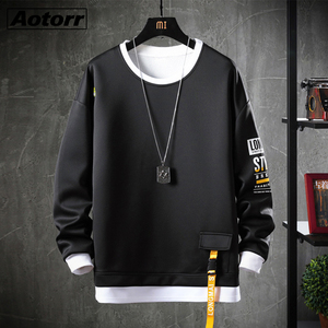 Autumn Japan Style Sweatshirt Men Hip Hop High Streetwear Male Fashion Casual Hoodie Sweatshirt Brand Clothing Plus Size 4XL