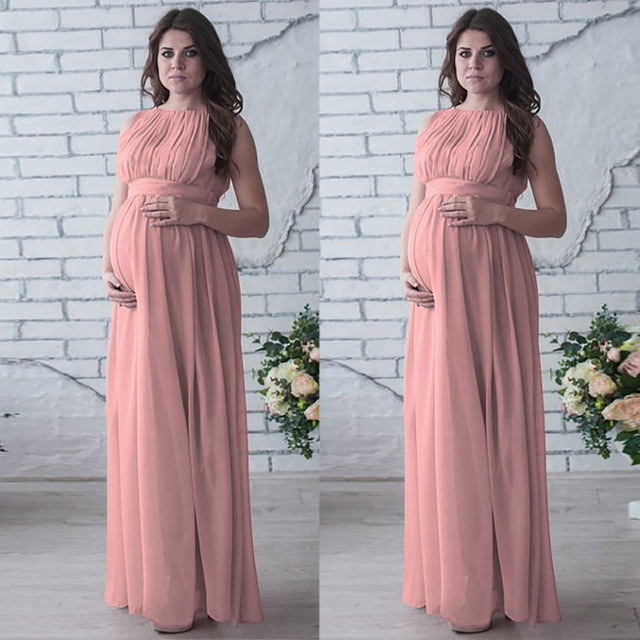 Casual Summer Maternity Dresses in Boho Style 3