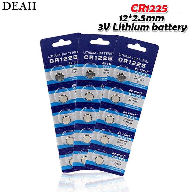 15 шт. 3V литиевая батарея таблеточного типа для Батарея CR1225 1225 BR1225 LM1225 KCR1225 EE6220 для дистанционного управления игрушка часы с калькулятором эл...
