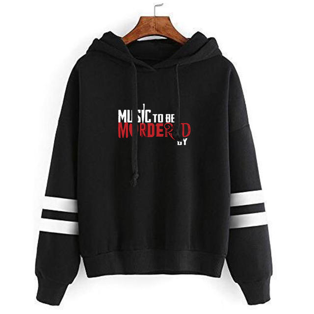 MUSIC TO BE MURDERED BY EMINEM THEMED STRIPED HOODIE