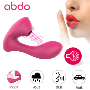 abdo wearable clitoral suction massager, female massager with 10 vibrations, 3 suction modes, dual pleasure vibration stimulator