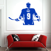 Wallpaper Home Decor ice Hockey Wall Sticker Poster Custom Name Number Removeable Vinyl DIY Wall Decal Bedroom Decoration Y115
