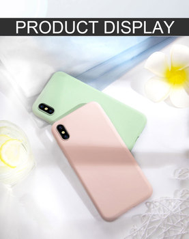 Solid Color Silicone Back Cases For iphone XR X XS Max 11 Pro 6 6S 7 8 Plus SE Cover Candy Color Soft Simple Phone Case tanie i dobre opinie PXXKJOER Zderzak Zwykły Odporna na brud Anti-knock Heavy Duty Ochrony