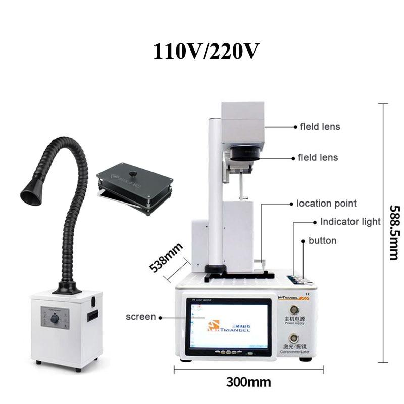 Nouveau m-triangel bricolage imprimante CNC découpe Laser pour iphone 11 Xs Xsmax X dos verre dissolvant Lcd cadre réparation Laser Machine séparée