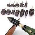 Schwarz Ebenholz Holz Leder Burnisher Poliert Stangen, Leder Handwerk Rand Slicker Werkzeug, elektrische Poliert Spitze Kopf DIY Rotary Sets