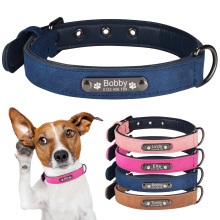 Personalized Dog Collars Customized Dog Collar with Id Tags Adjustable
