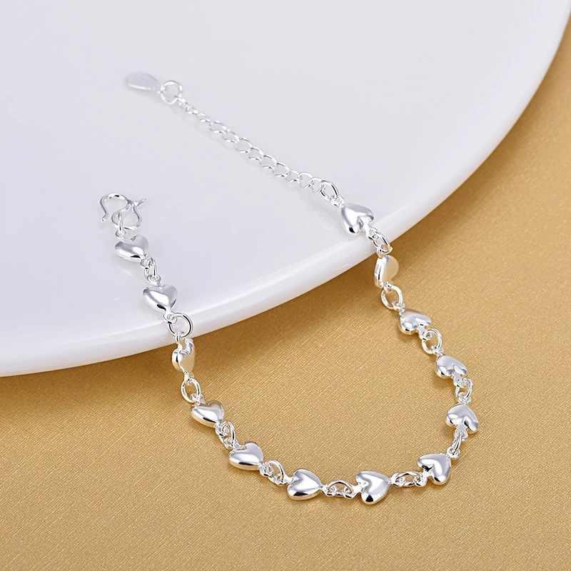 925 Sterling Perak Jantung Gelang Fashion Pesona Gelang Dirancang Fashion Perhiasan Gelang untuk Wanita Hadiah 2020