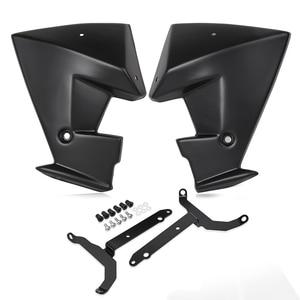 Image 3 - MT 07 FZ 07 액세서리 라디에이터 사이드 스포일러 패널 스쿠프 커버 가드 Fairing for 2014 2018 Yamaha MT 07 FZ 07 MT07 FZ07