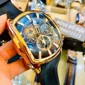 Image 3 - שונית טייגר/RT למעלה מותג יוקרה גדול שעון לגברים כחול חיוג מכאני Tourbillon ספורט שעונים Relogio Masculino RGA3069