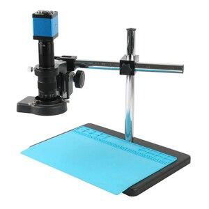 13MP HDMI VGA промышленный микроскоп камера 180X/300X C-MOUNT Объектив Вращающийся Кронштейн для ремонта чипа телефона PCB