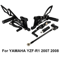 Motorcycle Motors Accessories Parts Foot Rests Rear Set Adjustable Foot Pegs Adjustable For Yamaha YZF R1 YZF R1 2007 2008