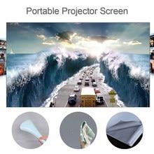 80 100 120 pouces HD projecteur écran 16:9 sans cadre vidéo Projection écran pliable fixé au mur pour bureau à domicile gris écran