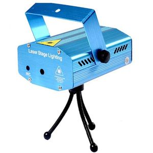 Image 3 - Mini LED Laser Projector Stage Light Effect Strobe Lazer Show Party Stage Soundlights DJ Disco Xmas Party Colorful Lamp 110 220V