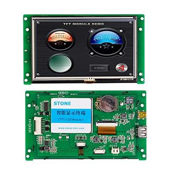 цена на STONE 5.0 Inch HMI TFT LCD Display Module with Serial Interface+CPU+Driver+Touch Screen