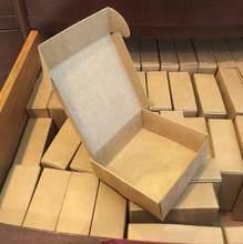 100 sztuk Kraft papierowe pudełko prezentowe niestandardowe pudełko kartonowe mydło wyrabiane ręcznie biżuteria cukierki opakowania papierowe pudełko małe