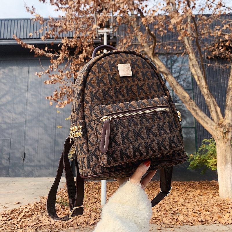 2021 New Women's Fashion Khaki Backpack Bag Bag Of Euramerican Style Ladies Fashion Tourism Storage Bag Bag