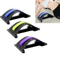 1pc voltar equipamento de estiramento massageador maca mágica fitness apoio lombar relaxamento coluna alívio da dor cor aleatória
