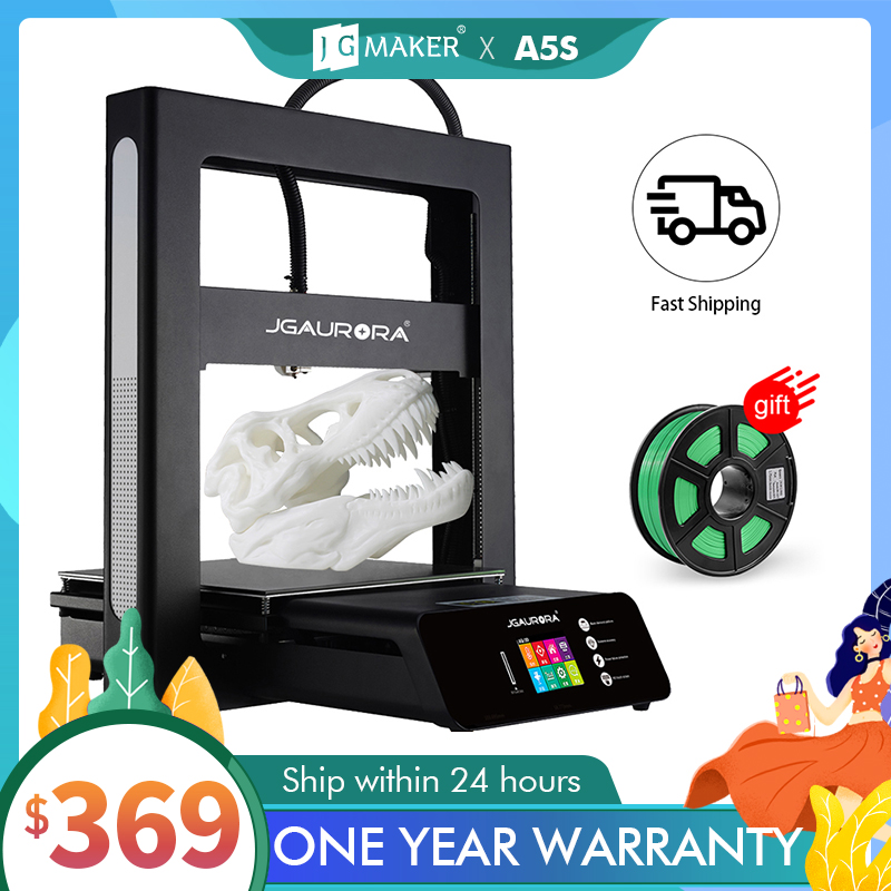Jgmaker 3d impressora a5 atualizado a5s kit diy completo metal extrema alta precisão grande tamanho de impressão 305x305x320mm impressora 3d jgaurora|3d printer|jgaurora 3d printerprinter 3d -