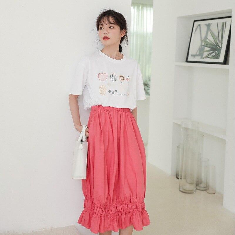 Summer New Style Breathable INS Super Fire Very Fairy Of Method Half-length Public Pleated Skirt Medium-length Country Skirt Qua