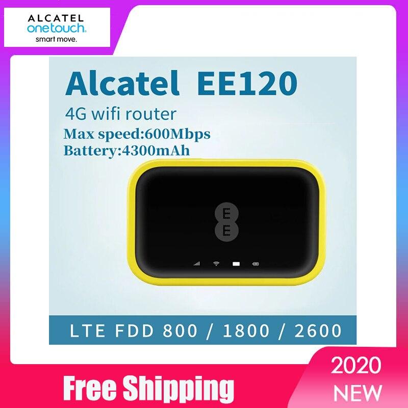 Новый Разблокированный Мобильный Wi-Fi модем Alcatel EE70 EE120 Cat12 600 Мбит/с аккумулятор 4300 мАч 4G LTE