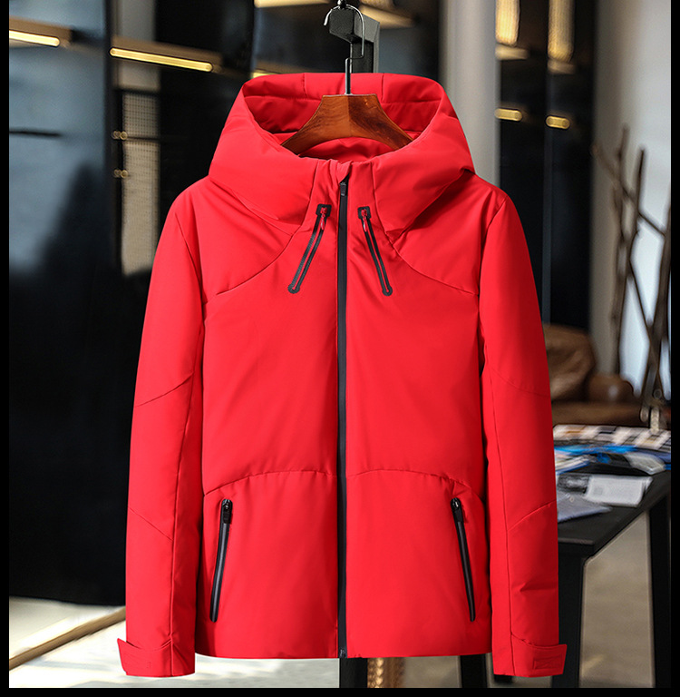 HO new 19 thickening down jacket young men brief paragraph clothes leisure in winter to keep warm 4
