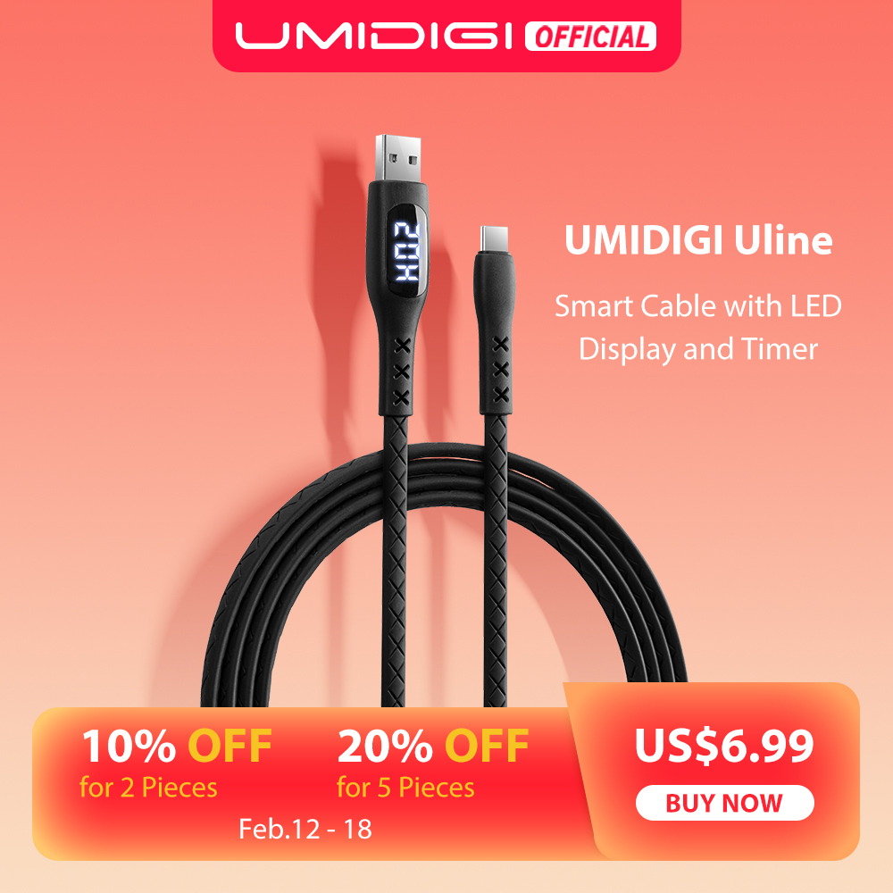 UMIDIGI C-Cable Led-Display-Timer Usb-Type Fast-Charging Samsung Smartphone Auto-Power-Off title=