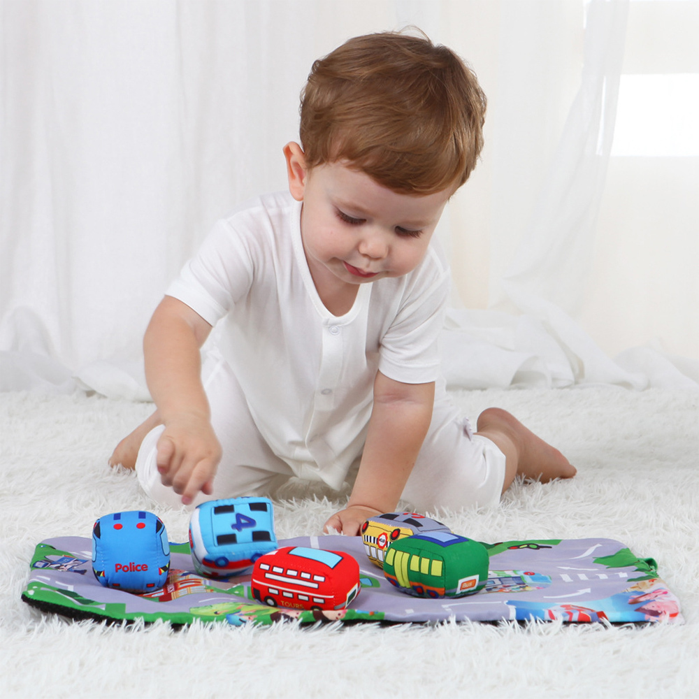 Baby Play Mat Pad Infants Kids Room Mini Crawling Carpet Cartoon Funny Floor Rug Toddler Car Farm Animal Toys Foldable Play Mats