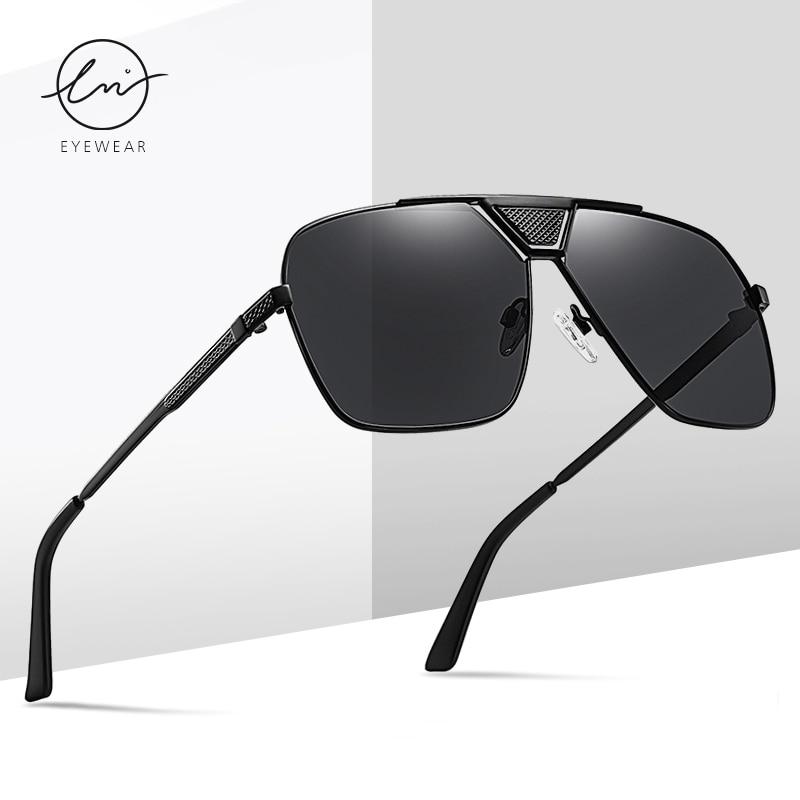 Солнцезащитные очки lm в квадратной оправе uv400 для мужчин