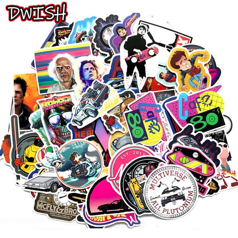 10/30/57pcs Waterproof Movie Back To The Future Stickers Skateboard Guitar Suitcase Children Funny Graffiti Classic Toy Sticker