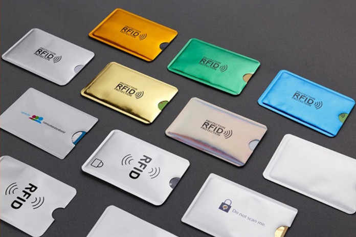 HJKL 6PC Anti Rfid Credit Card Holder Bank Id Card Bag Cover wallet Identity Protector Case Portable Business  Cards  Cardholder