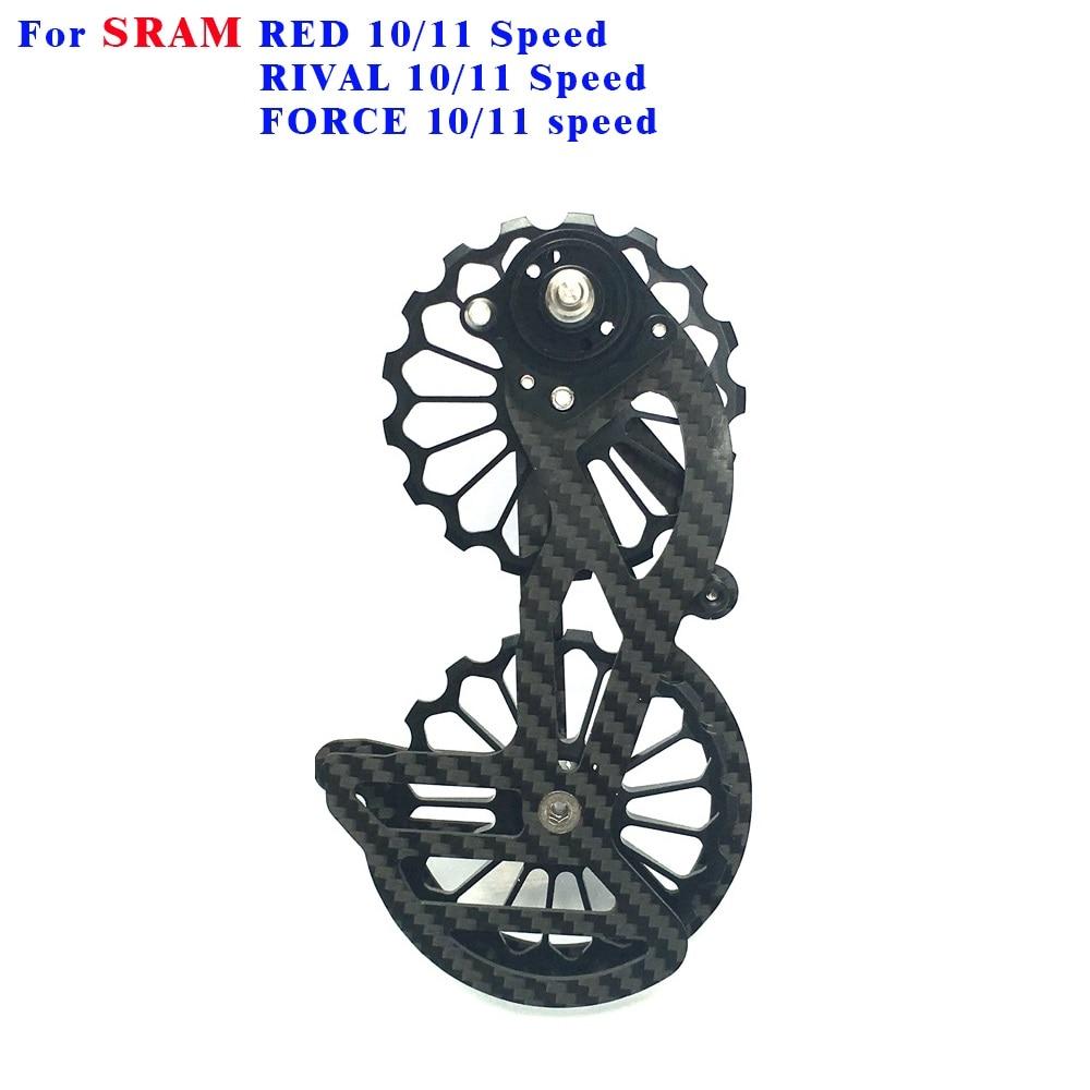 ROCKBROS Carbon Fiber 17T Bike Rear Derailleur Ceramic Bearings Guide Wheel