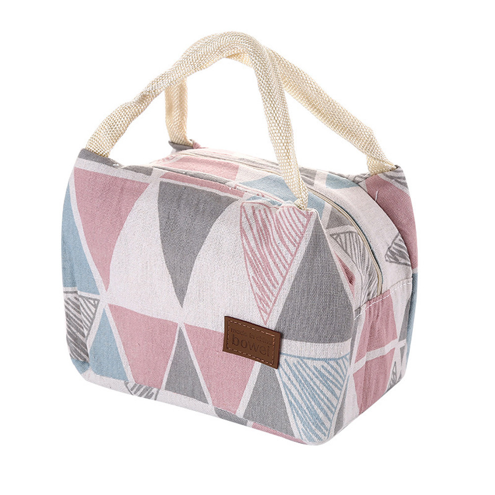 Portable Lunch Bag 2019 New Thermal Insulated Lunch Box Tote Cooler Bag Bento Pouch Lunch Container Folding Lunch Tote Lancheira
