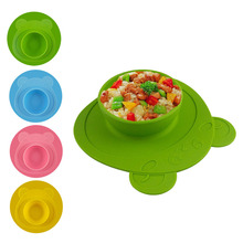 Plate 100% Silicone Dishes Bowl With Suction Cup Colorful Feeding Food Pratos Tray For Baby Toddler