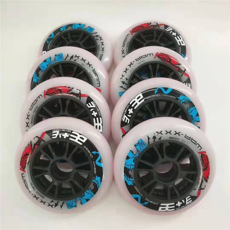 BE+VE GO BEYOND Dual Core 110mm 100mm 90mm WAR XXX Dual-hardness Inline Speed Skates Wheel For Road Track Race Tyre Pro 65A 87A