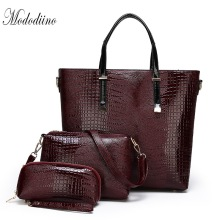 Mododiino Brands Women Handbag Set Luxury Designer Lizard Pattern Composite Bags For Purses And Handbags DNV1185